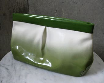 Chartreuse Green Clutch Purse Bag Man Made Material Nine & Co. Gradient Hand Bag