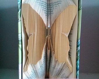 Butterfly Folded Book Art **Pattern** and instructions  PDF Free Instructions