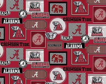 University of Alabama Crimson Tide Cotton Fabric - 1 Yard