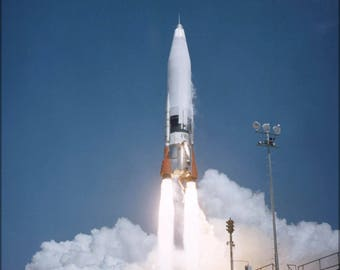 Poster, Many Sizes Available; Atlas Missile Launch