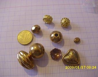 set of 24 grams of beads acrylic imitation gold metal