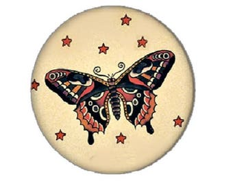 25mm Butterfly (tatoo Navy)