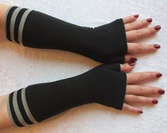 Fingerless  gloves  black,  stretch, longes,  comfortable - Ready  to  Ship