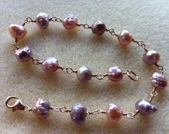 Druzy Pearl Bracelet