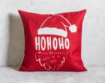 Christmas Pillow Cover, Santa Pillow Cover, Pillow Covers, Throw Pillow, Christmas Throw Pillow, Decorative Pillow Cover