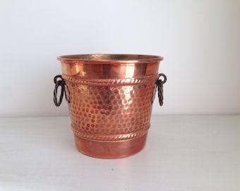 Copper ice bucket. 50's.