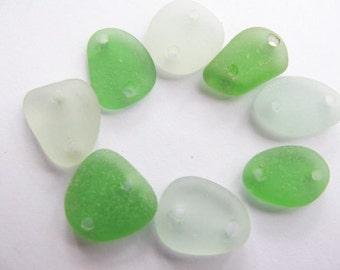 Beach Glass Bulk, Sea Glass Lot, Two Drilled Holes Seaglass, Jewelry Supply, Sea Glass Supply, Jewelry Making