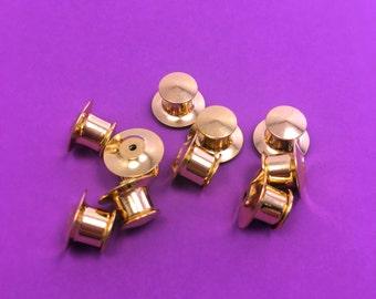 12 Pack - Locking Pin Backs for Enamel Pins