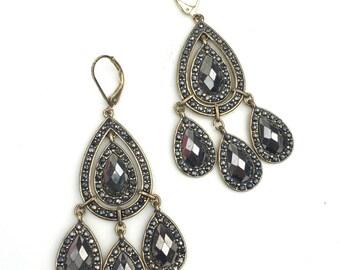 Vintage Avon NR Marcasite Chandelier Earrings