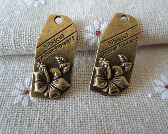 5pcs 30x11mm Antique Bronze tag ( A117)