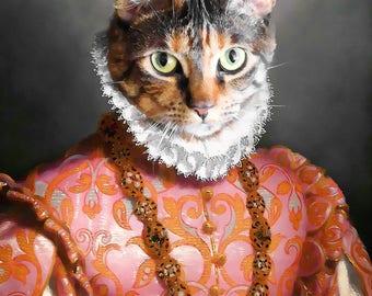 Cat portrait, cat painting, custom cat portrait, cat, pet portrait, cat art, cat gift, cat portrait, realistic painting, original painting