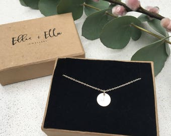 Handstamped Sterling Silver Initial necklace