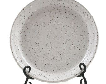 White Speckled Stoneware Platter
