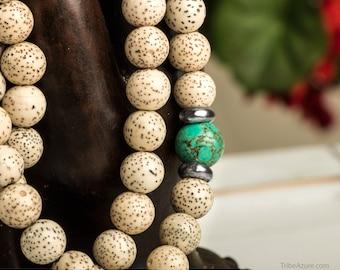 Buddhist Mala, Lotus Seed Buddhist Prayer Beads 8 mm - Meditation Beads, Yoga Mala, Tibetan Prayer Beads, Yoga Necklace