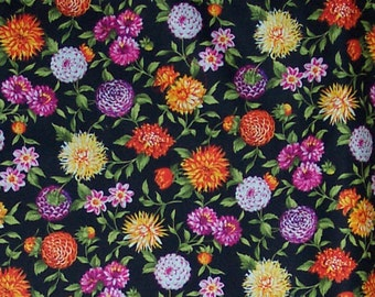 Colorful Mum Mums Allover Fabric Cotton Home Decor Crafting Quilting