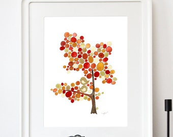 East West Song Tree - Giclee Art Print Reproduction of Watercolor Painting - Trees of Life Collection