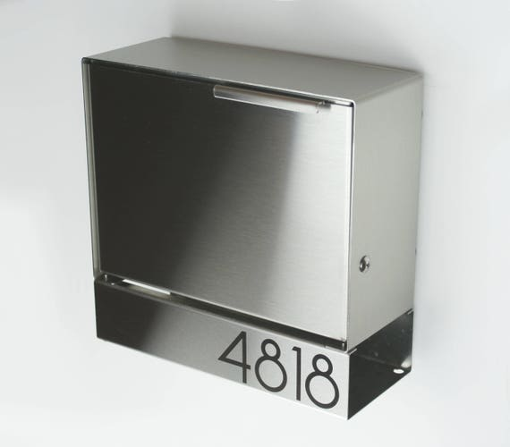 Modern Mailbox Ely S Stainless Steel Design Wall Mounted