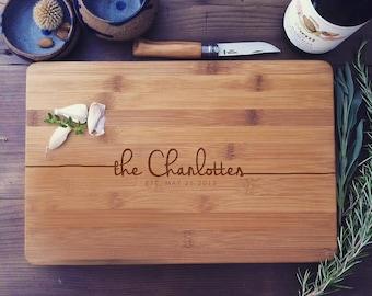Custom Cutting Board, Cheese Board, Butcher Block, Wood Chopping Board, Couple Cutting Board, Chopping Block, Newlyweds Gift, Foodie Gift