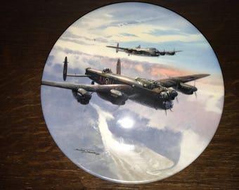 "Coalport ""evening sortie"" ltd edition military air plane plate"