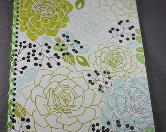 Floral Notebook Bound with Ribbon