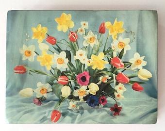 Vintage floral chocolate box