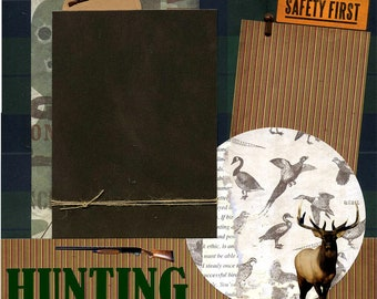 Hunting - Premade Scrapbook Page