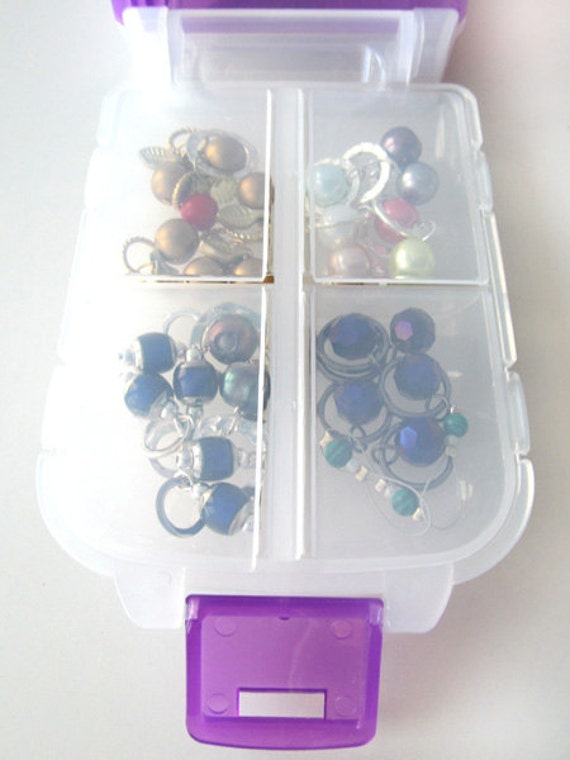 Snap 'n Go Notions Case - On-The-Go Storage Accessory for Knitters and Crocheters - Violet Purple