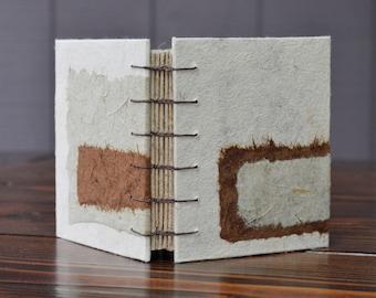 cattail book - handmade paper journal or sketchbook