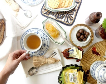 Harvest Tea Collection, Vintage Items Perfect For An Autumn Tea Setting