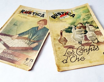 2 French Charming Magazines RUSTICA from 1930's / French decor / French country /French farmhouse/Rustic
