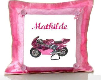 Cushion Pink bike personalized with name