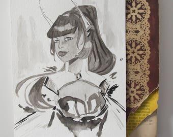Mecha sketch I - Original sketch