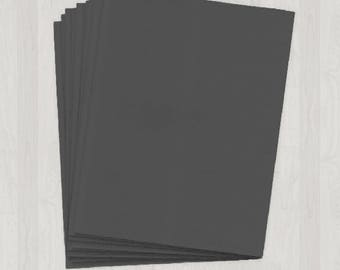 10 Sheets of Text Paper - Gray, Black and Silver - DIY Invitations - Paper for Weddings & Other Events