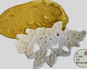 Floral lace mold, silicone lace mold for cake|decorating, cake lace mold, chocolate mold, polymer clay mold, resin M1005