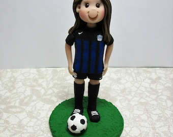 Soccer Player Personalized Birthday Cake Topper Figurine Custom Made To Order