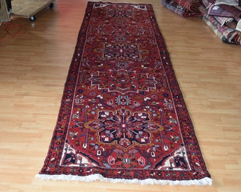 Unique Persian Antique Meshkin Hand knotted rug