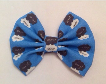Sale - TFIOS The Fault in Our Stars Inspired Hair Bow Medium Sized, John Green, Okay Okay Nerdfighter, Nerdfighteria