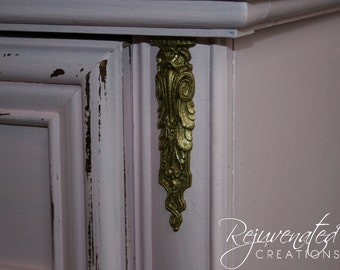2 DIY furniture appliques - shabby chic appliques - architectural mouldings - furniture moldings - onlays