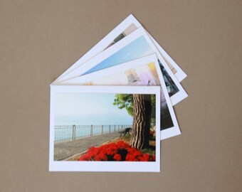 ITALY Set of 4 Blank Photo Note Cards