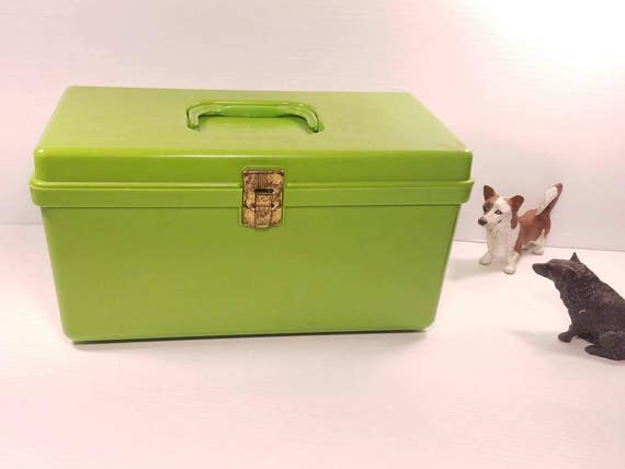 Vintage Sewing Craft Supply Box, Wilson Mfg Corp Plastic, 12x6.5 X 6, Lime  Green Storage Container, Retro Craft Storage Box From JustinsJunkgle On  Etsy ...