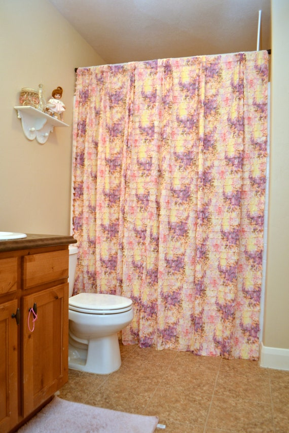 Ivory Ruffle Shower Curtain Extra Long Shower Curtain