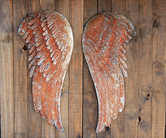 Shabby Chic Wall Decor Large Angel Wings Wall Decor Metal