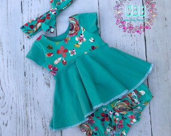 Baby girl  clothes , baby girl outfits , spring  outfit , Baby girl summer clothes  , baby girl summer outfits ,does not include headband