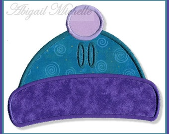 Winter Hat Banner Add On - 4 Sizes, Machine Embroidery