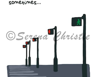 Traffic Light illustration print