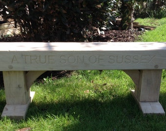 1.2m Engraved Oak Bench ideal for memorial, anniversary, retirement, present, etc