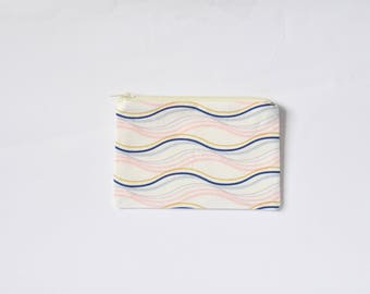 Small Coin Purse, Change Purse, Coin Pouch, Zipper Pouch, Makeup Pouch, Cosmetic Pouch, Card Pouch, Card Holder - Pastel Streamers