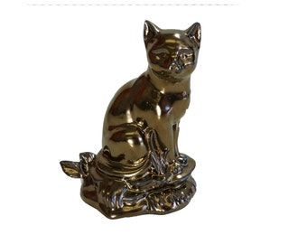Glazed American Shorthair Figurine/Ceramic Cremation Urn.