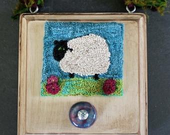 Momma Sheep Punchneedle Embroidery Pattern PDF