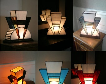 """Gift voucher lamp Art Deco lamp Tiffany stained glass Tiffany, """"last"""" table """"First"""" lamp"""